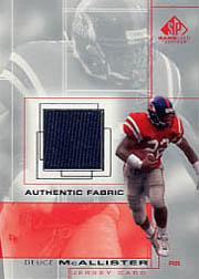 2001 SP Game Used Edition Authentic Fabric #DM Deuce McAllister
