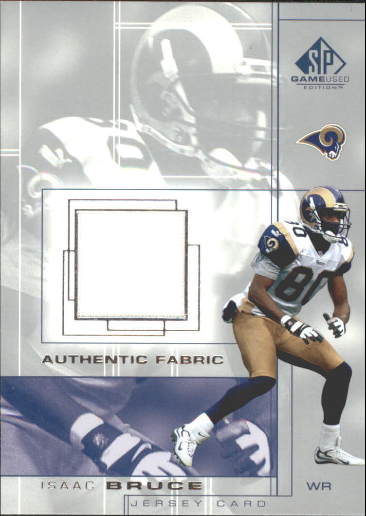 2001 SP Game Used Edition Authentic Fabric #IB Isaac Bruce