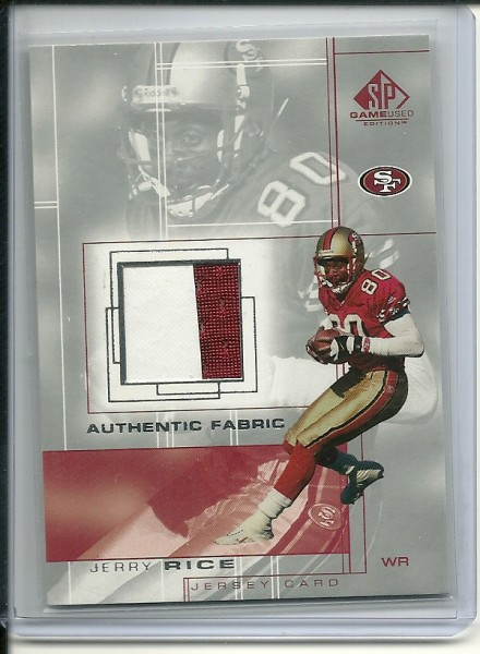 2001 SP Game Used Edition Authentic Fabric #JR Jerry Rice