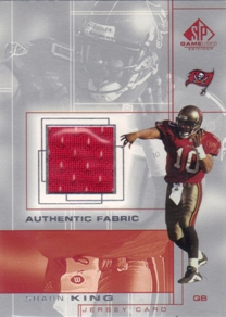 2001 SP Game Used Edition Authentic Fabric #SK Shaun King