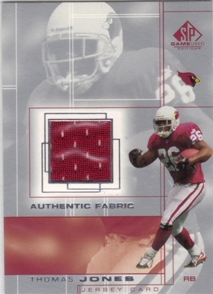 2001 SP Game Used Edition Authentic Fabric #TJ Thomas Jones