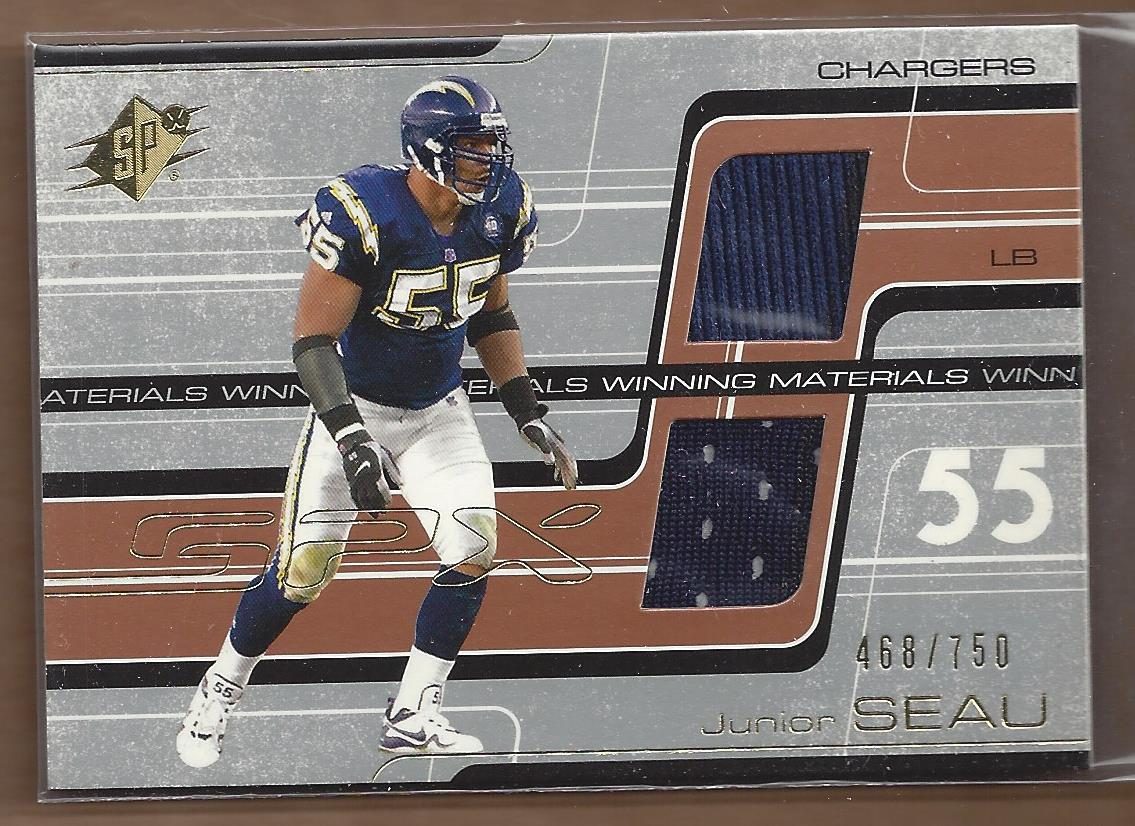 2001 SPx Winning Materials #WMJS1 Junior Seau/750