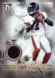 2001 Titanium Double Sided Jerseys #5 Michael Vick/Quincy Carter