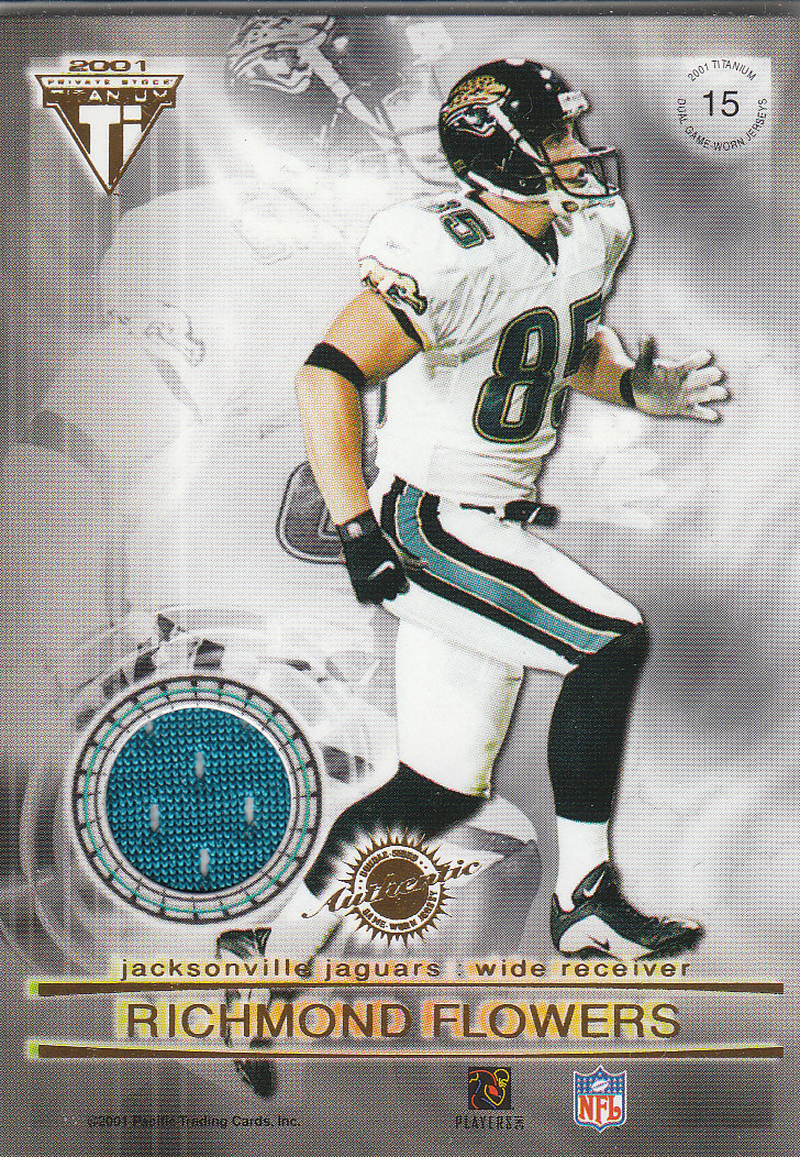 2001 Titanium Double Sided Jerseys #15 Kevin Kasper/Richmond Flowers
