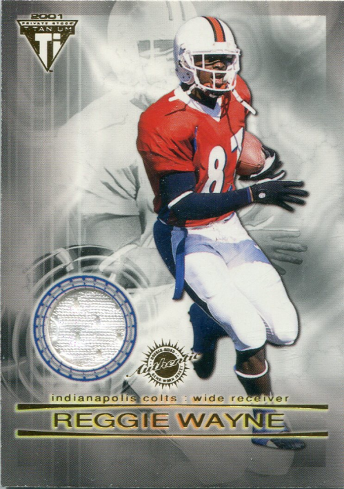 2001 Titanium Double Sided Jerseys #18 Reggie Wayne/Freddie Mitchell