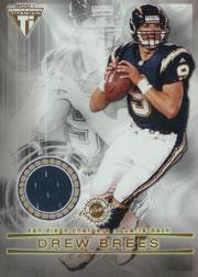 2001 Titanium Double Sided Jerseys #29 Drew Brees/LaDainian Tomlinson