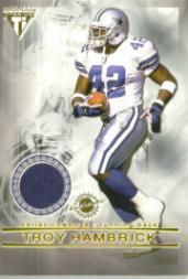 2001 Titanium Double Sided Jerseys #74 Troy Hambrick/Darren Woodson