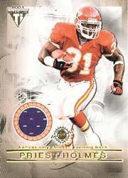 2001 Titanium Double Sided Jerseys #95 Priest Holmes/Charlie Garner