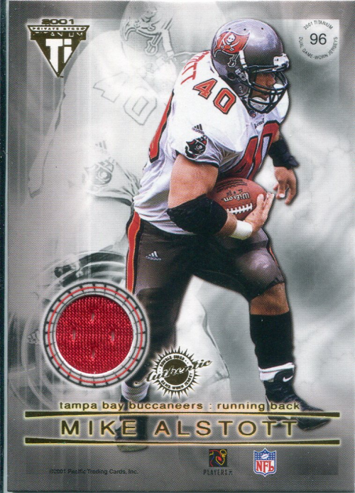 2001 Titanium Double Sided Jerseys #96 Kimble Anders/Mike Alstott