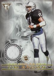 2001 Titanium Double Sided Jerseys #111 Tim Brown/Jerry Rice