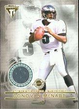2001 Titanium Double Sided Jerseys #114 Donovan McNabb/Duce Staley