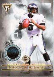 2001 Titanium Double Sided Jerseys Patches #114 Donovan McNabb/Duce Staley