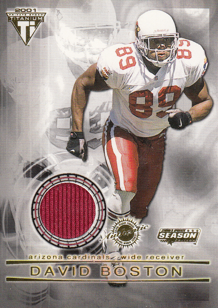 2001 Titanium Post Season Jerseys #1 David Boston