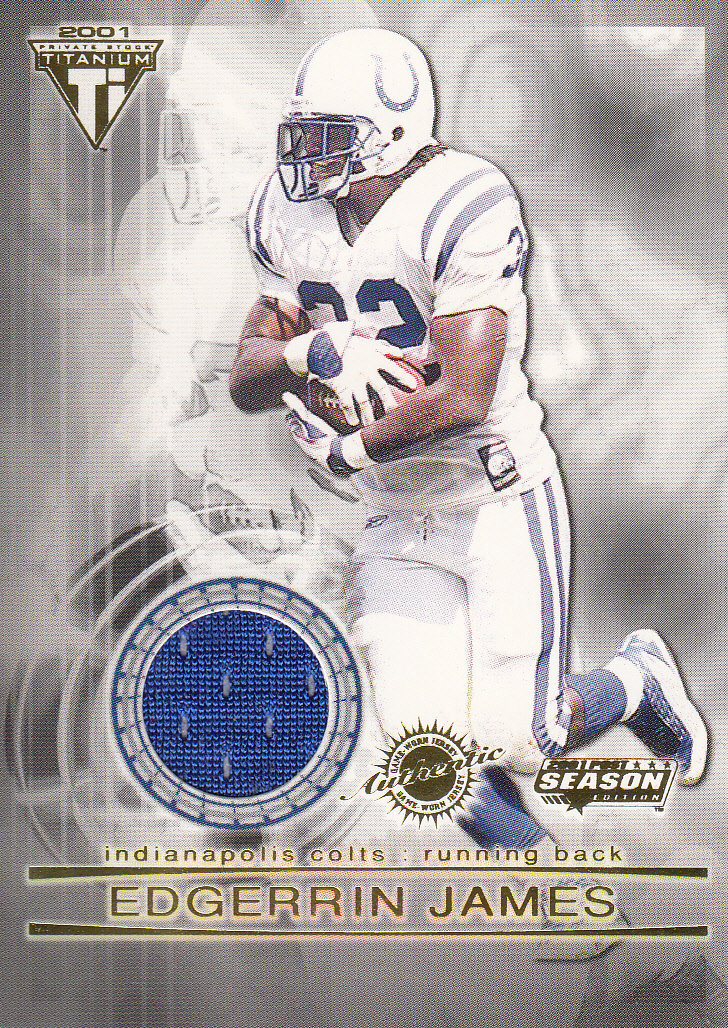 2001 Titanium Post Season Jerseys #48 Edgerrin James