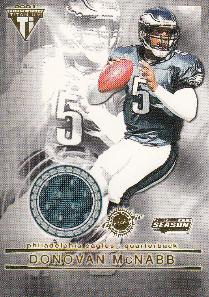2001 Titanium Post Season Jerseys #76 Donovan McNabb