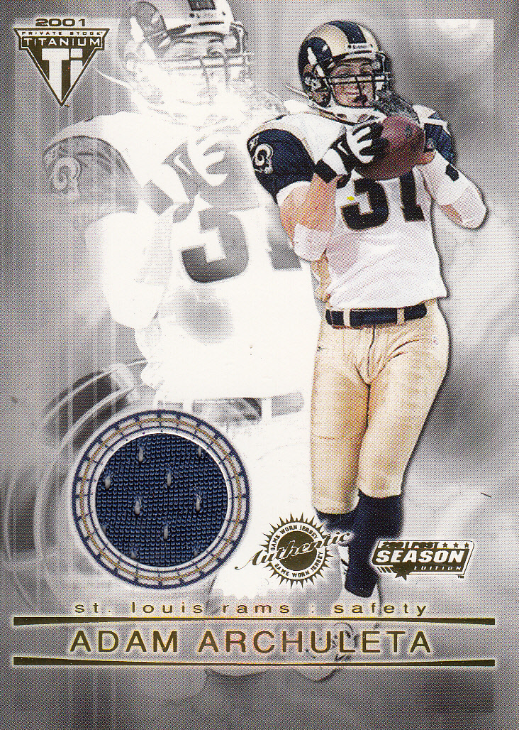 2001 Titanium Post Season Jerseys #79 Adam Archuleta