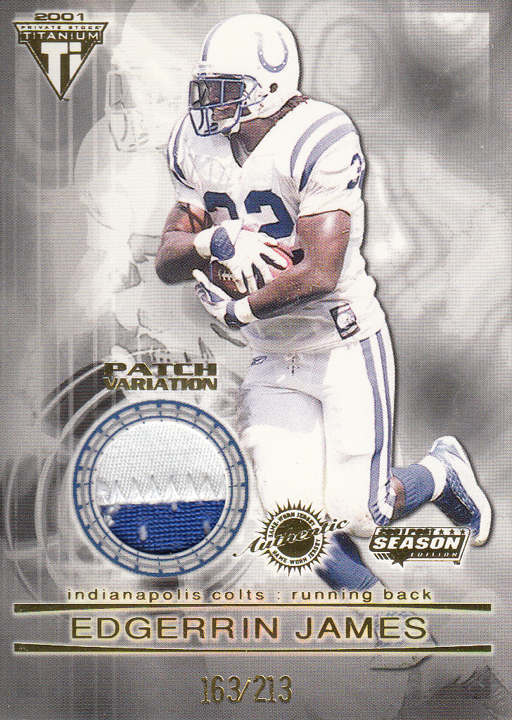 2001 Titanium Post Season Jersey Patches #48 Edgerrin James/213