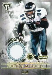 2001 Titanium Post Season Jersey Patches #77 Freddie Mitchell/86