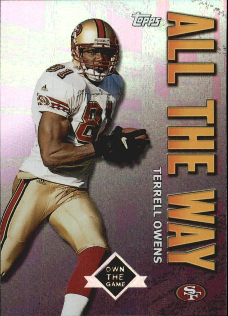2001 Topps Own the Game #AW9 Terrell Owens