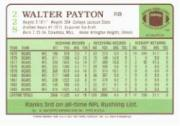 2001 Topps Walter Payton Reprints #WP9 Walter Payton 1984 back image