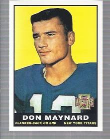2001 Topps Archives #23 Don Maynard 61 front image