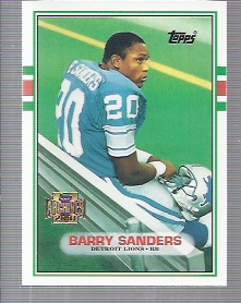 2001 Topps Archives #25 Barry Sanders 89
