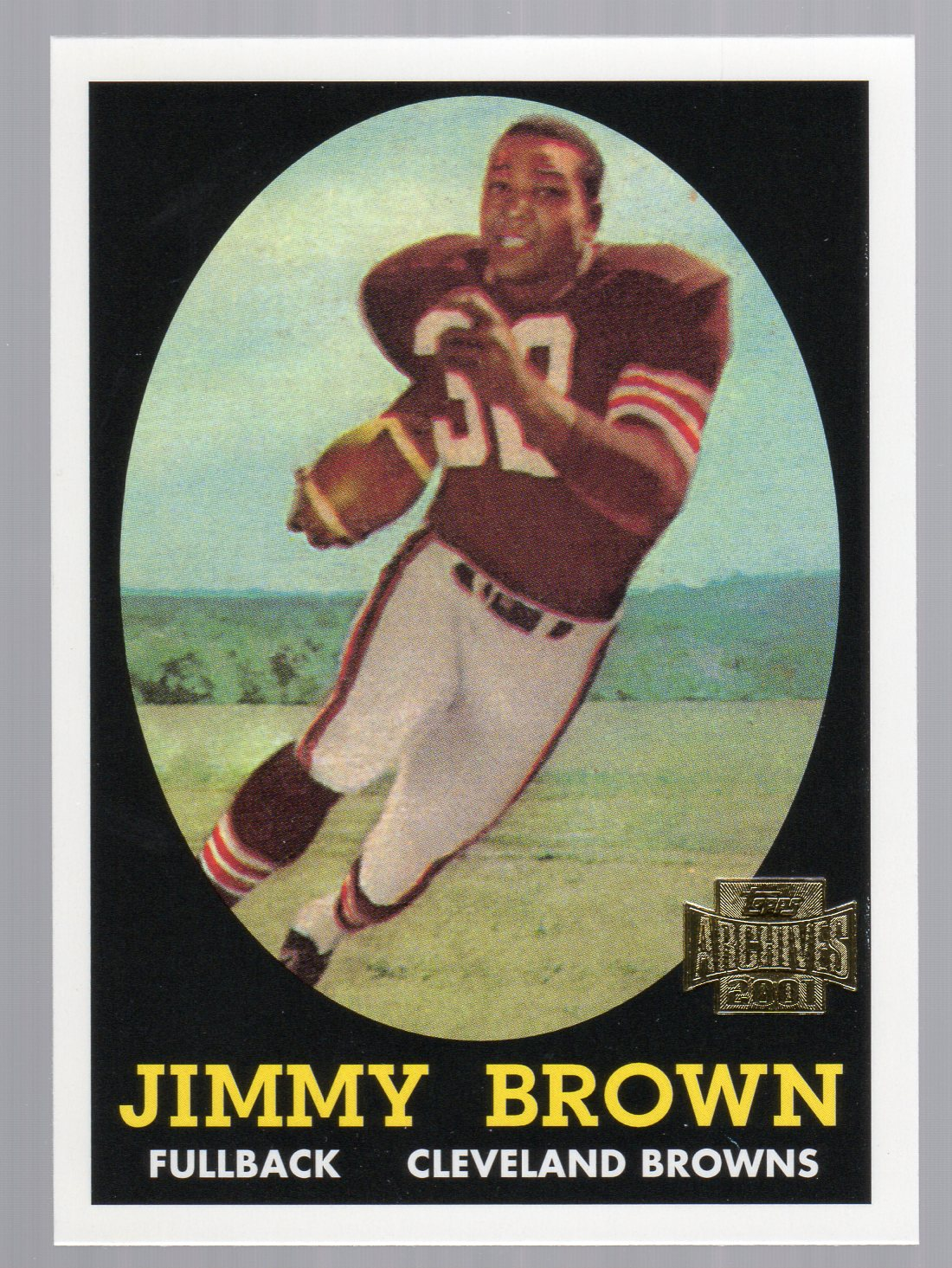 2001 Topps Archives #38 Jim Brown 58