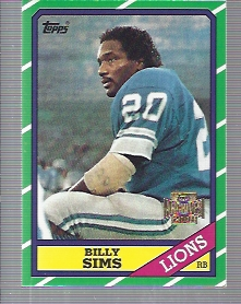 2001 Topps Archives #102 Billy Sims 86