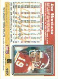 2001 Topps Archives #178 Joe Montana 95 back image