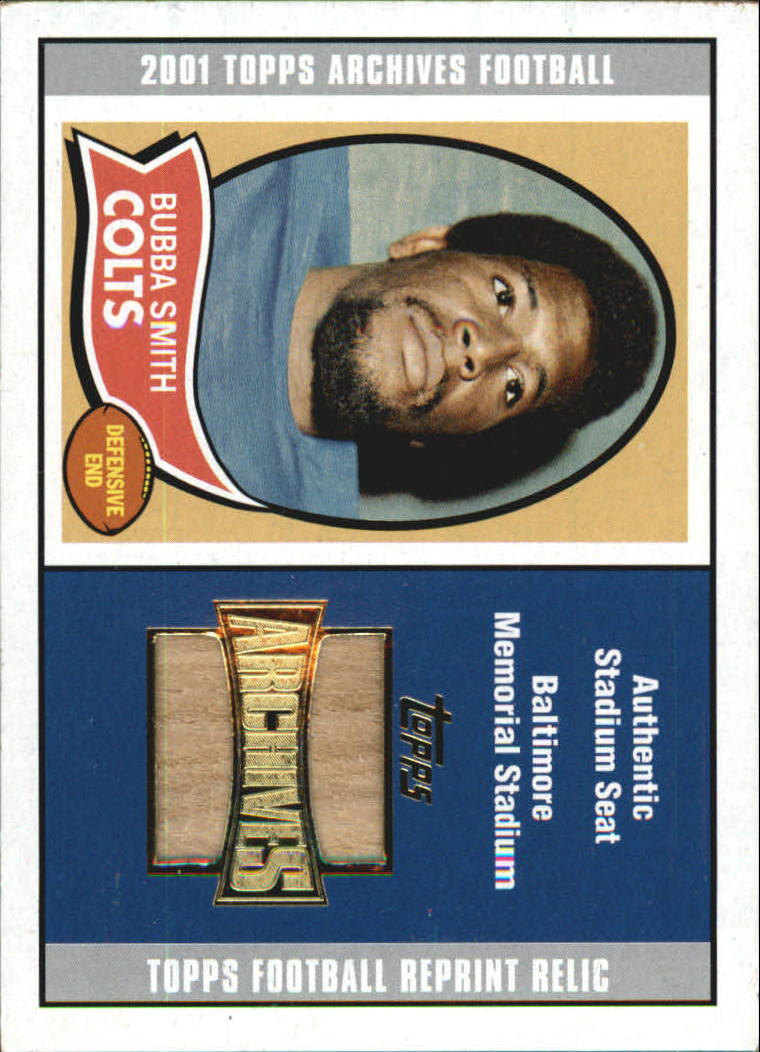 2001 Topps Archives Relic Seats #ASBS Bubba Smith