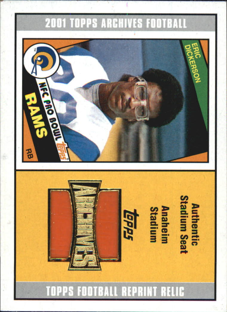 2001 Topps Archives Relic Seats #ASED Eric Dickerson