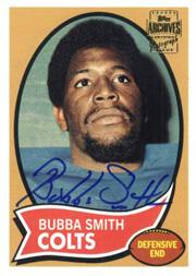 2001 Topps Archives Rookie Reprint Autographs #AABSM Bubba Smith J