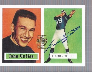 2001 Topps Archives Rookie Reprint Autographs #AAJU Johnny Unitas H