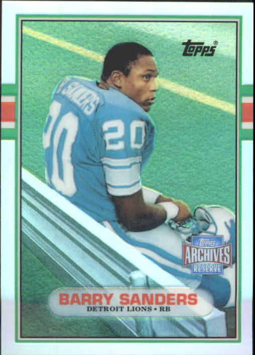 2001 Topps Archives Reserve #25 Barry Sanders 89