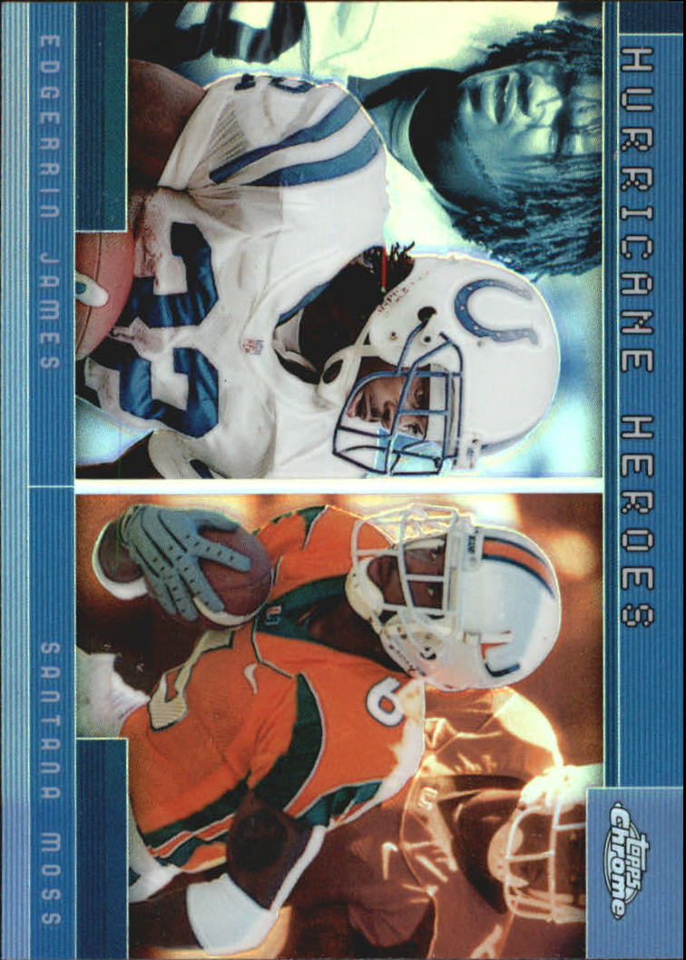 2001 Topps Chrome Combos #TC1 Edgerrin James/Santana Moss