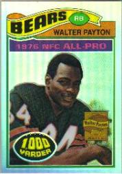 2001 Topps Chrome Walter Payton Reprints Refractors #WP2 Walter Payton 1977
