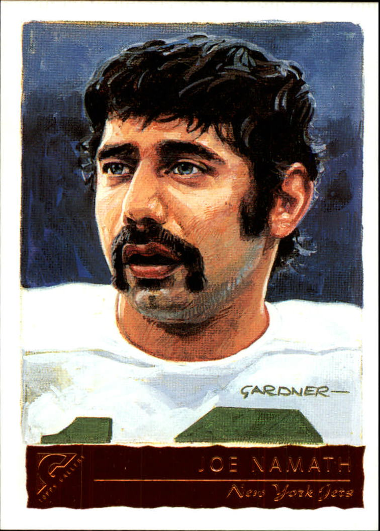 2001 Topps Gallery #145A Joe Namath HTA/(pictured in a Jets jersey)