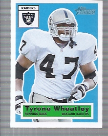 2001 Topps Heritage #14 Tyrone Wheatley