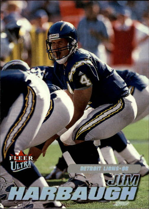 2001 Ultra #207 Jim Harbaugh front image