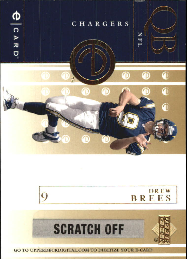 2001 Upper Deck e-Card #EDB Drew Brees