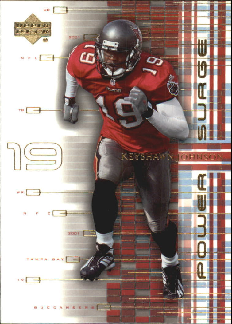 2001 Upper Deck Power Surge #PS6 Keyshawn Johnson
