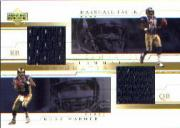 2001 Upper Deck Teammates Jerseys #WFT Kurt Warner/Marshall Faulk