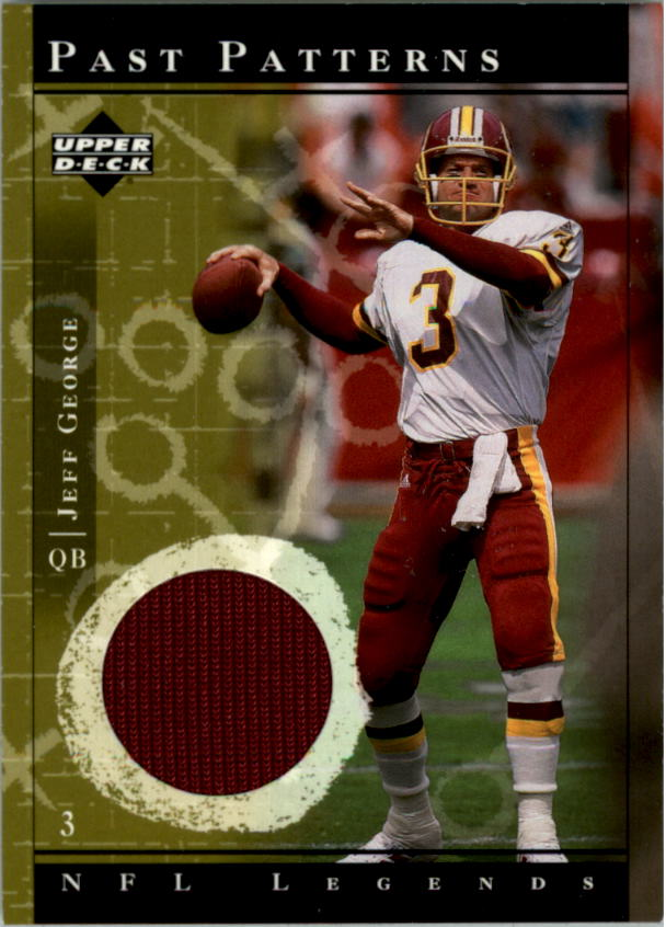 2001 Upper Deck Legends Past Patterns Jerseys #PPJG Jeff George