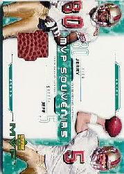 2001 Upper Deck MVP Souvenirs #GR Jeff Garcia/Jerry Rice