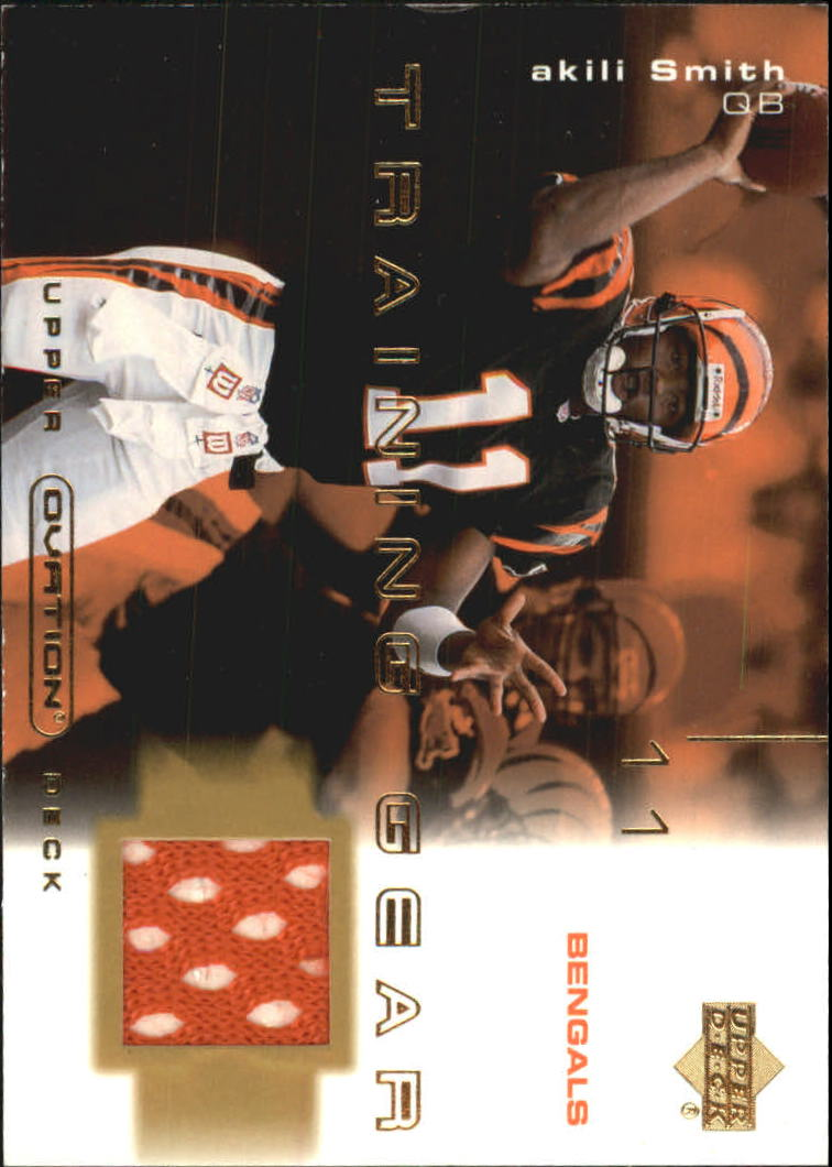 2001 Upper Deck Ovation Training Gear #TAS Akili Smith front image