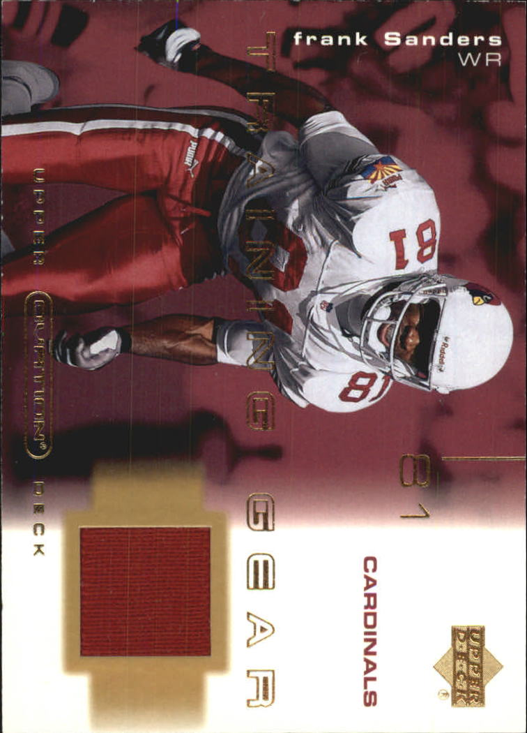 2001 Upper Deck Ovation Training Gear #TFS Frank Sanders
