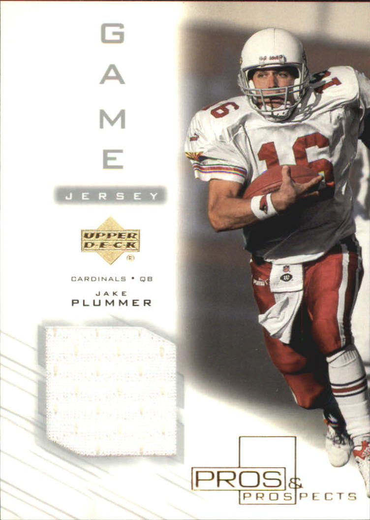 2001 Upper Deck Pros and Prospects Game Jersey #JPJ Jake Plummer