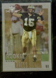 2001 Upper Deck Rookie F/X #263M Drew Brees MVP
