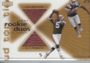 2001 Upper Deck Top Tier Rookie Duos Footballs #RDMJ Quincy Morgan/James Jackson