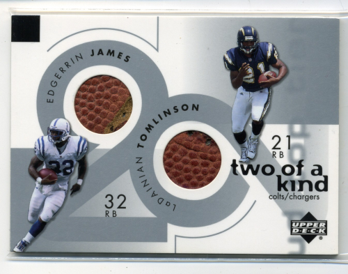 2001 Upper Deck Top Tier Two of a Kind Footballs #2KJT Edgerrin James/LaDainian Tomlinson